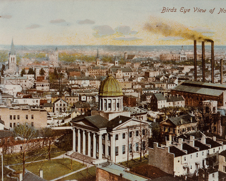 UNDATED..Historical...Birdseye view of Norfolk looking North.from Postcard.Macarthur Memorial...NEG#..