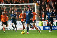 27th December 2019; Dens Park, Dundee, Scotland; Scottish Championship Football, Dundee Football Club versus Dundee United; Kane Hemmings of Dundee races away from Jamie Robson of Dundee United  - Editorial Use