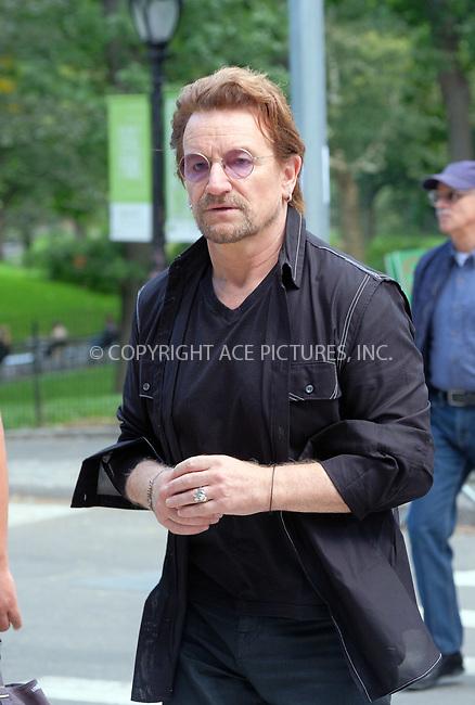 www.acepixs.com<br /> <br /> September 8 2017, New York City<br /> <br /> Singer Bono walks in Midtown Manhattan on September 8 2017 in New York City<br /> <br /> By Line: Curtis Means/ACE Pictures<br /> <br /> <br /> ACE Pictures Inc<br /> Tel: 6467670430<br /> Email: info@acepixs.com<br /> www.acepixs.com