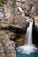 Beauty Creek offers cascades and waterfalls after short hike from Icefields Parkway, Banff NP