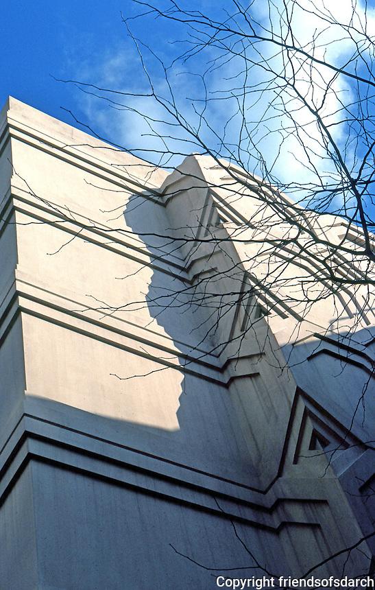 F.L. Wright: Guggenheim. Detail.  Photo '78.