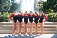 STANFORD, CA - Freshmen of Stanford University Women's Gymnastics.