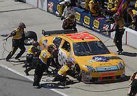 May 6, 2007; Richmond, VA, USA; Nascar Nextel Cup Series driver Ricky Rudd (88) pits during the Jim Stewart 400 at Richmond International Raceway. Mandatory Credit: Mark J. Rebilas