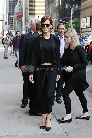 NEW YORK, NY-May 11: Kate Beckinsale at The Late Show with Stephen Colbert to talk about her new movie from amazonstudios & Another Roadside Attraction Love and Friendship in New York. NY May 11, 2016. Credit:RW/MediaPunch
