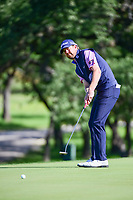 Bryce Molder (USA) watches his putt on 10 during round 4 of the Valero Texas Open, AT&amp;T Oaks Course, TPC San Antonio, San Antonio, Texas, USA. 4/23/2017.<br /> Picture: Golffile | Ken Murray<br /> <br /> <br /> All photo usage must carry mandatory copyright credit (&copy; Golffile | Ken Murray)