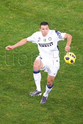 29.10.2010 Lucio Da Silva (Inter). Football : Italian Serie A 2010-2011, match between  Genoa and Inter Milan at Luigi Ferraris Stadium, Genova, Italy,