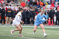 College Park, MD - February 24, 2019: North Carolina Tar Heels Jamie Ortega (3) looks to pass the ball during the game between North Carolina and Maryland at  Capital One Field at Maryland Stadium in College Park, MD.  (Photo by Elliott Brown/Media Images International)