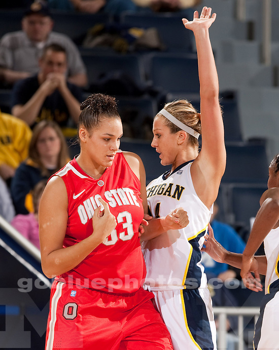 University of Michigan women's basketball team beat Ohio State 73-62 at Crisler Arena in Ann Arbor, Mich., on January 7, 20112.