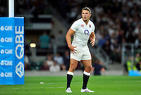 Sam Burgess of England looks on. QBE International match between England and France on August 15, 2015 at Twickenham Stadium in London, England. Photo by: Patrick Khachfe / Onside Images