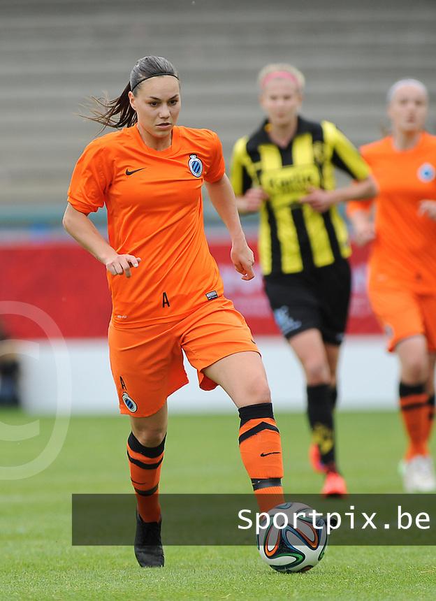 Bekerfinale vrouwen 2015 : Lierse-Club Brugge Vrouwen :<br /> <br /> Jassina Blom<br /> <br /> foto VDB / BART VANDENBROUCKE