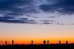 Photographers at sunrise on Plum Island, Newburyport, Massachusetts, USA