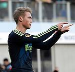 Nederland, Zwolle, 11 november  2012.Eredivisie.Seizoen 2012-2013.PEC-Zwolle-Ajax.Viktor Fischer van Ajax juicht na het scoren van de 0-2