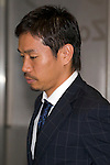 """Japan national football team, Yuto Nagatomo, June 27, 2014, Chiba, Japan - Hotaru Yamaguchi arrives at Narita International Airport with other members of the Japan national football team. Members of the Japan national football team arrives at Narita with a disappointed look on their faces. They couldn't advance to the final 16 in """"2014 FIFA World Cup Brazil"""" and came back earlier. (Photo by Rodrigo Reyes Marin/AFLO)"""