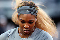 La statunitense Serena Williams agli Internazionali d'Italia di tennis a Roma, 15 maggio 2014.<br /> United States' Serena Williams during the Italian open tennis tournament, in Rome, 15 May 2014.<br /> UPDATE IMAGES PRESS/Riccardo De Luca