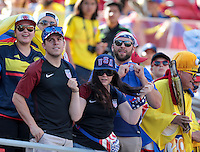 Santa Clara, CA. - June 3, 2016: The U.S. Men's national team go up against Colombia in their opening match at the 2016 Copa America Centenario at Levi's stadium.