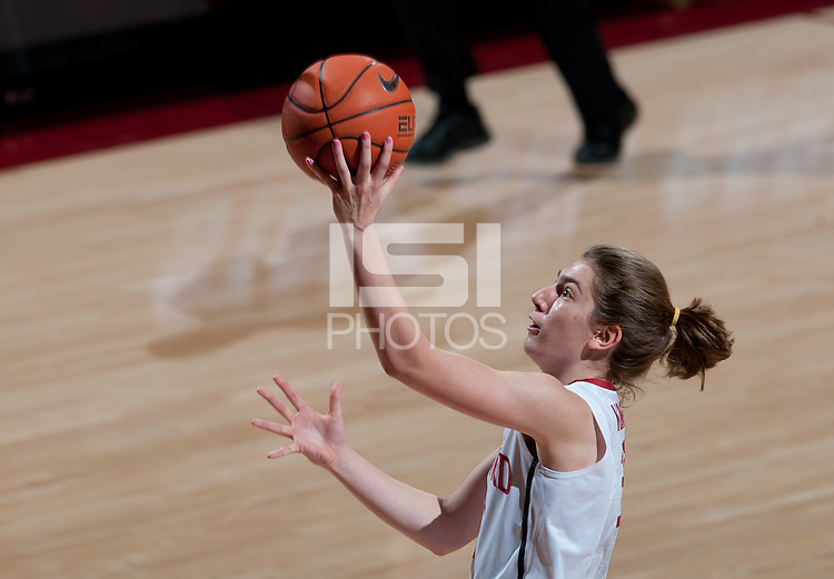 STANFORD, CA - February 24, 2011: Toni Kokenis of the Stanford Cardinal women's basketball team during the Stanford 73-37 win over Oregon State at Maples Pavilion.
