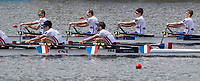 Sarasota. Florida USA. GBR LM4X. Bow. Edward  FISHER,  Zak LEE-GREEN, Peter CHAMBERS and Gavin HORSBURGH, Semi Final A/B. 2017 World Rowing Championships, Nathan Benderson Park<br /> <br /> Friday  29.09.17 <br /> <br /> [Mandatory Credit. Peter SPURRIER/Intersport Images].<br /> <br /> <br /> NIKON CORPORATION -  NIKON D500  lens  VR 500mm f/4G IF-ED mm. 200 ISO 1/1600/sec. f 5.6
