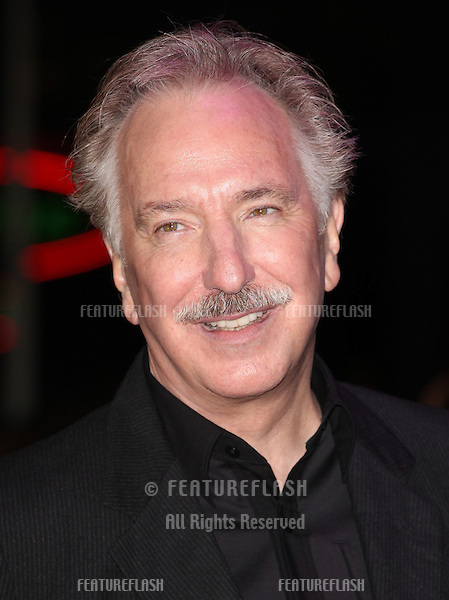 Alan Rickman arriving for the World Premiere of Gambit, at the Empire Leicester Square, London. 07/11/2012 Picture by: Alexandra Glen / Featureflash