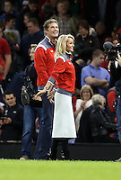 Pictured L-R: American actor David Hasselhoff with welsh girlfriend Hayley Roberts Saturday 22 November 2014<br />