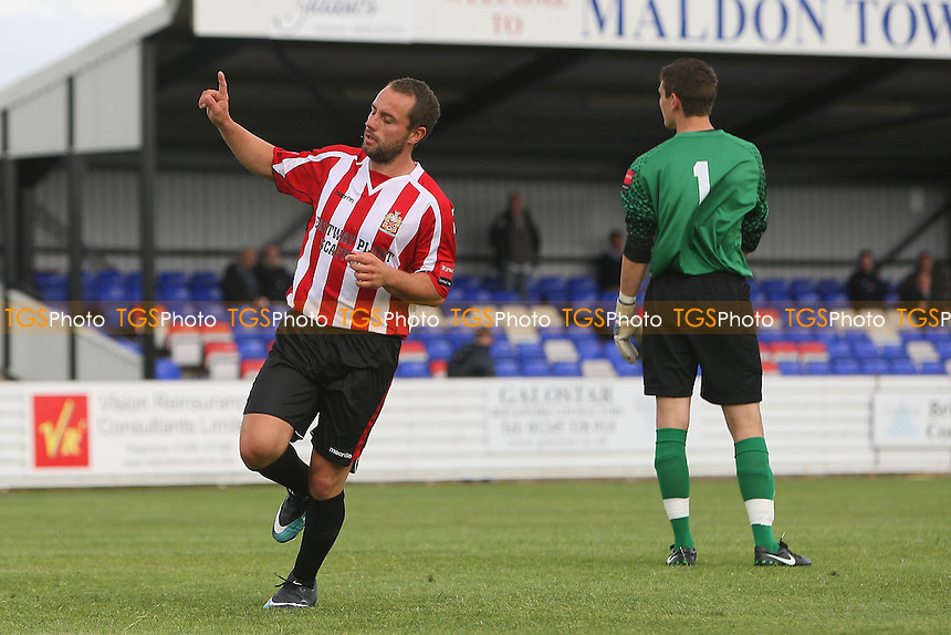 Jo Flack scores the first goal for Hornchurch and celebrates - Maldon & Tiptree vs AFC Hornchurch - Pre-Season Football Friendly Football at The Wallace Binder Stadium - 16/07/11 - MANDATORY CREDIT: Gavin Ellis/TGSPHOTO - Self billing applies where appropriate - Tel: 0845 094 6026 - contact@tgsphoto.co.uk