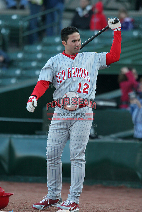 Scranton Wilkes-Barre Red Barons Danny Sandoval during an International League game at Frontier Field on May 19, 2006 in Rochester, New York.  (Mike Janes/Four Seam Images)