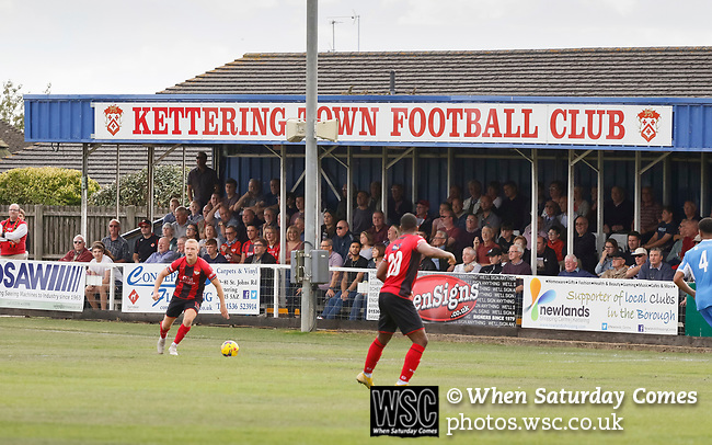 Kettering Town 1 Leiston 2, Evo Stick Southern League Premier Central, Latimer Park. Kettering Town are a famous name in non-league football. After financial problems, relegations, and relocation, the club are once again upwardly mobile. Despite losing to Leiston, Kettering finished the season as Champions and were promoted to the National League North.