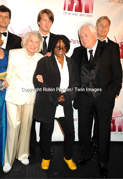 "Liz Smith, Whoopi Goldberg and David Seidler attending the Literacy Partners 27th Annual "" Evening of Readings"" on May 16, 2011 at The David Koch Theatre in Lincoln Center in New York City."