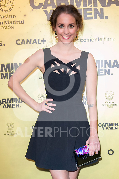 "Spanish Actress Silvia Alonso attend the Premiere of the movie ""Carmina y Amen"" at the Callao Cinema in Madrid, Spain. April 28, 2014. (ALTERPHOTOS/Carlos Dafonte)"