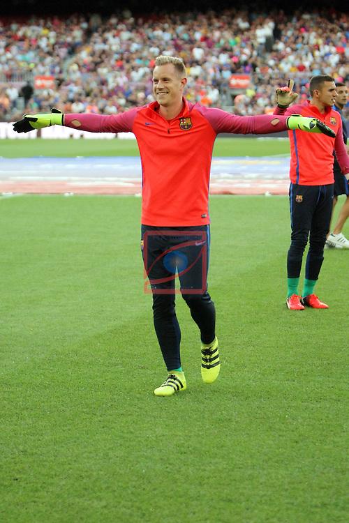 League Santander 2016/2017.<br /> 51e Trofeu Joan Gamper.<br /> FC Barcelona vs UC Sampdoria: 3-2.<br /> Marc-Andre Ter Stegen.