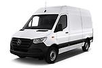2019 Mercedes Benz Sprinter - 2 Door Cargo Van Angular Front stock photos of front three quarter view