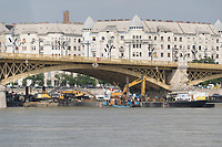 Ship accident search and rescue in downtown Budapest, Hungary on June 7, 2019. ATTILA VOLGYI