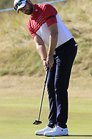 Ruaidhri McGee (IRL) putts on the 3rd green during Friday's Round 2 of the 2018 Dubai Duty Free Irish Open, held at Ballyliffin Golf Club, Ireland. 6th July 2018.<br /> Picture: Eoin Clarke | Golffile<br /> <br /> <br /> All photos usage must carry mandatory copyright credit (&copy; Golffile | Eoin Clarke)