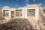 Ghost town of Rhyolite, Nevada<br /> <br /> Overbury Bank ruins