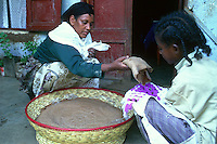 Injera, the national ethiopian dish made out of teff flour