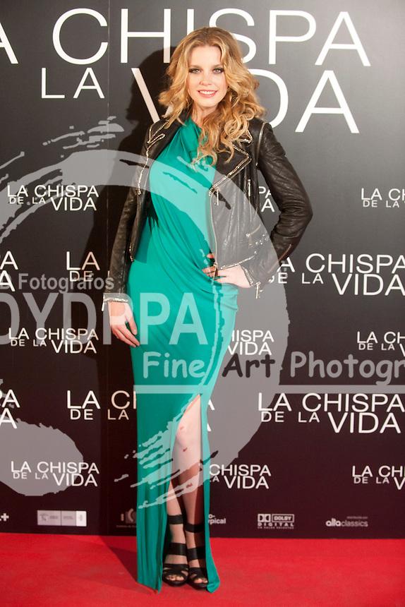 "12/01/2012. Callao Cinema. Madrid. Spain. ""La chispa de la vida"" premiere. Carolina Bang"