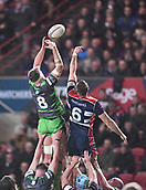 23rd March 2018, Ashton Gate, Bristol, England; RFU Rugby Championship, Bristol versus Yorkshire Carnegie; Richard Beck of Yorkshire Carnegie and Nick Haining of Bristol compete for the lineout ball