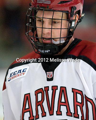 Luke Greiner (Harvard - 26) - The Harvard University Crimson defeated the visiting Brown University Bears 3-2 on Friday, November 2, 2012, at the Bright Hockey Center in Boston, Massachusetts.