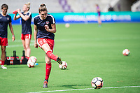Orlando, FL - Saturday April 22, 2017: Alyssa Kleiner during a regular season National Women's Soccer League (NWSL) match between the Orlando Pride and the Washington Spirit at Orlando City Stadium.
