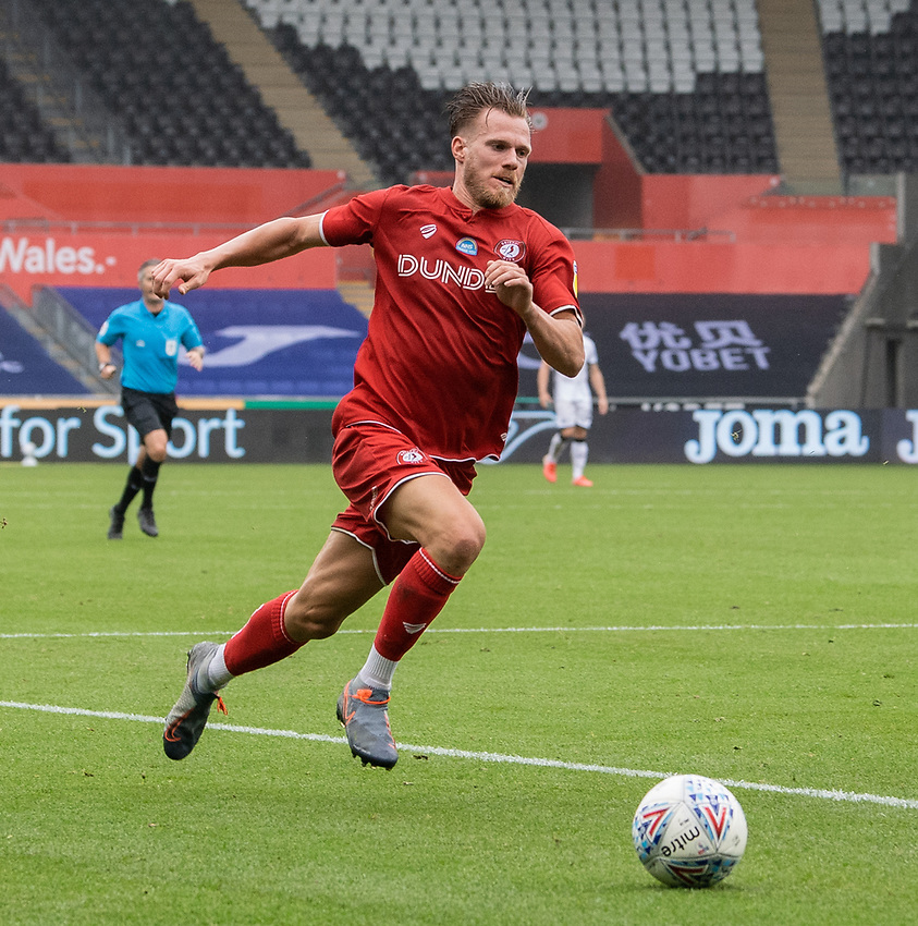 Bristol City's Tomas Kalas <br /> <br /> Photographer David Horton/CameraSport<br /> <br /> The EFL Sky Bet Championship - Swansea City v Bristol City- Saturday 18th July 2020 - Liberty Stadium - Swansea<br /> <br /> World Copyright © 2019 CameraSport. All rights reserved. 43 Linden Ave. Countesthorpe. Leicester. England. LE8 5PG - Tel: +44 (0) 116 277 4147 - admin@camerasport.com - www.camerasport.com