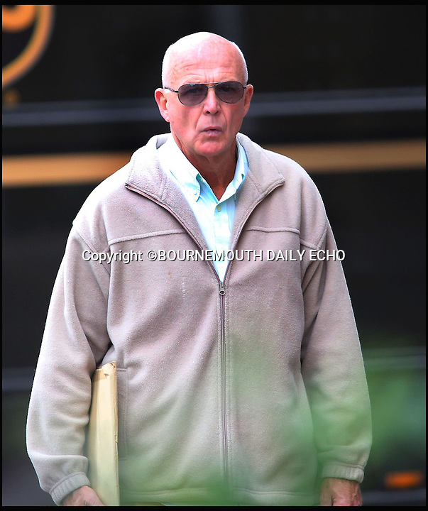 BNPS.co.uk (01202 558833)<br /> Picture by Richard Crease <br /> <br /> David Rae arrives at court.<br /> <br /> First it was Watergate, then Plebgate... Now it's Watering-gate!<br /> <br /> An OAP has been found guilty of assault after he floored his frail 86-year-old neighbour with a single punch to the head in a petty row about how to water hanging baskets. <br /> <br /> David Rae, 68, went for his former friend Stanley Smith &quot;with fists flying&quot; after finding him watering the flowers outside the sheltered housing block they both live at with a hosepipe rather than a sprinkler nozzle.<br /> <br /> Mr Smith, who has two metal knee replacements and walks with a stick, hit a lamppost and a bench as he was knocked to the ground in the attack, which has been dubbed Watering-gate.<br /> <br /> Disgruntled neighbours had previously written to Rae telling him &quot;You are not Alan Titchmarsh&quot; after getting fed up with his constant complaining about how the communal garden at the complex in Bournemouth, Dorset, was being kept.