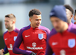 England's Dele Alli in action during training at the Tottenham Hotspur Training Centre.  Photo credit should read: David Klein/Sportimage