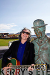 Dononvan serenades Charlie Chaplin at the Comedy Film Festival in Waterville over the weekend.