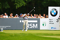 Nino Bertasio tees off at the 3rd tee during the BMW PGA Golf Championship at Wentworth Golf Course, Wentworth Drive, Virginia Water, England on 27 May 2017. Photo by Steve McCarthy/PRiME Media Images.