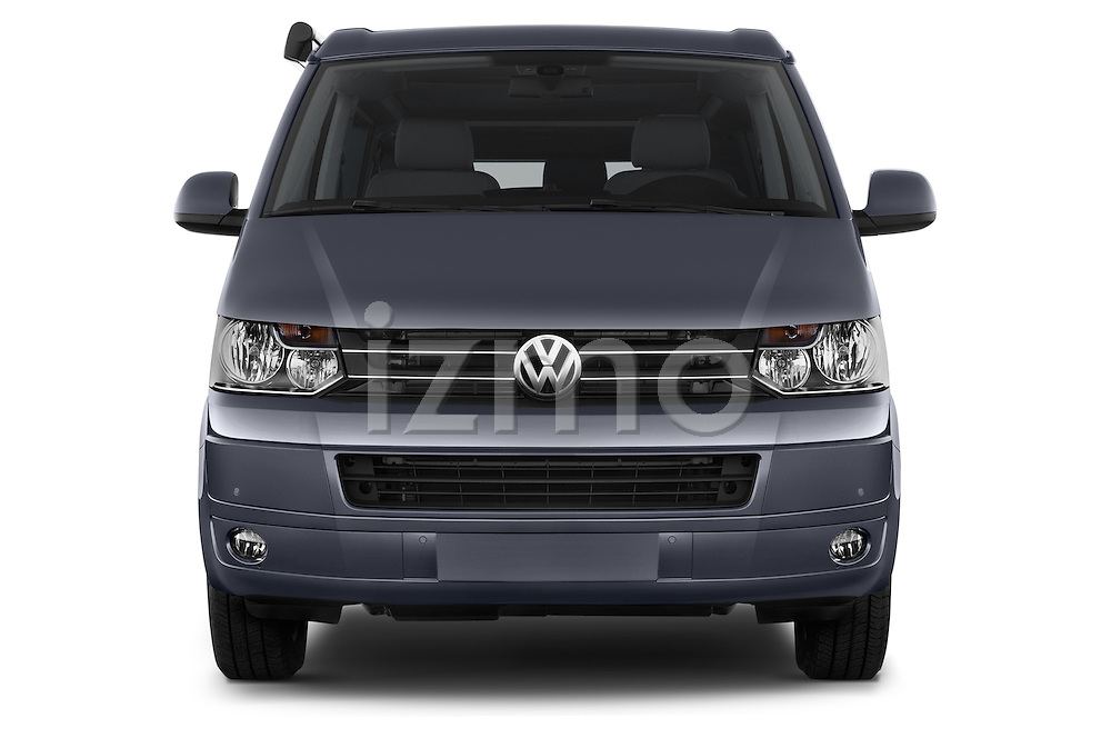 Car photography straight front view of a 2014 Volkswagen CALIFORNIA COMFORTLINE EDITION BLUEMOTION 4 Door Minivan Front View