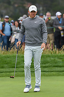 Rory McIlroy (NIR) after sinking his putt on 6 during round 2 of the 2019 US Open, Pebble Beach Golf Links, Monterrey, California, USA. 6/14/2019.<br /> Picture: Golffile | Ken Murray<br /> <br /> All photo usage must carry mandatory copyright credit (© Golffile | Ken Murray)