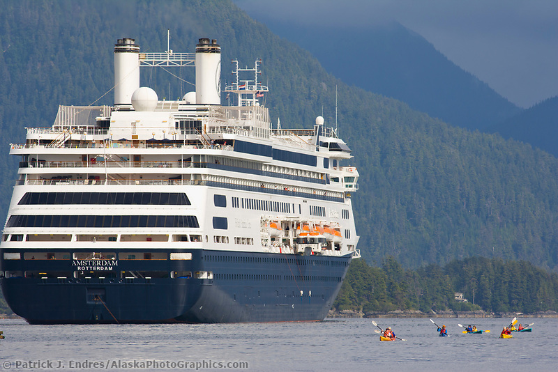 Holland American Cruise ship in Sitka Sound, Sitka, Alaska