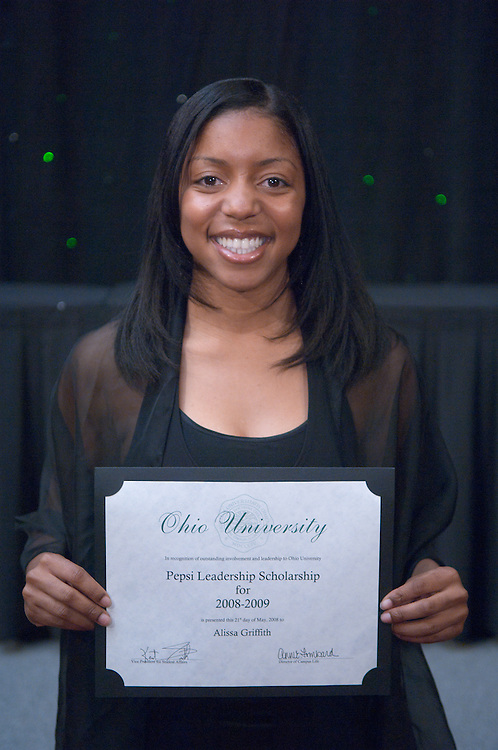 1890525th Annual Leadership Awards Gala..Pepsi Ohio University Campus Leadership Scholarship..Alissa Griffith