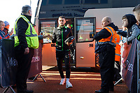Matt Grimes of Swansea City arrives prior to the game during the Sky Bet Championship match between Swansea City and Cardiff City at the Liberty Stadium, Swansea, Wales, UK. Sunday 27 October 2019