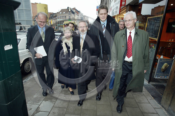 BELGIUM, Brussels / 14 January 2003--Norwegian State Secretaries from the Prime Ministers office in Brussels..PHOTO: JUHA ROININEN