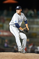 West Michigan Whitecaps pitcher Jade Todd #35 during a Midwest League game against the South Bend Silver Hawks at Coveleski Stadium on August 15, 2012 in South Bend, Indiana.  West Michigan defeated South bend 7-1.  (Mike Janes/Four Seam Images)